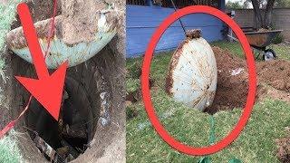 Er grub in seinem Garten und machte eine schockierende Entdeckung!