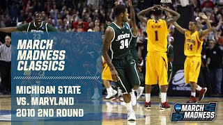 Michigan state's korie lucious hit a buzzer-beating 3 against maryland in the second round of 2010 ncaa men's division i basketball tournament to give sp...
