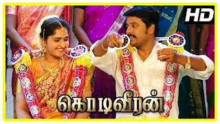 Kodi Veeran Movie Scenes   Vidharth and Sanusha get married    Sasikumar   Mahima Nambiar