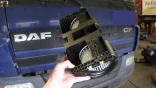 Зняття салонного моторчика DAF CF Blower fan motor removal