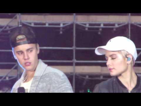 The Feeling (Soundcheck) Today Show - Justin Bieber & Halsey at Rockefeller Center, NYC 11/18/15