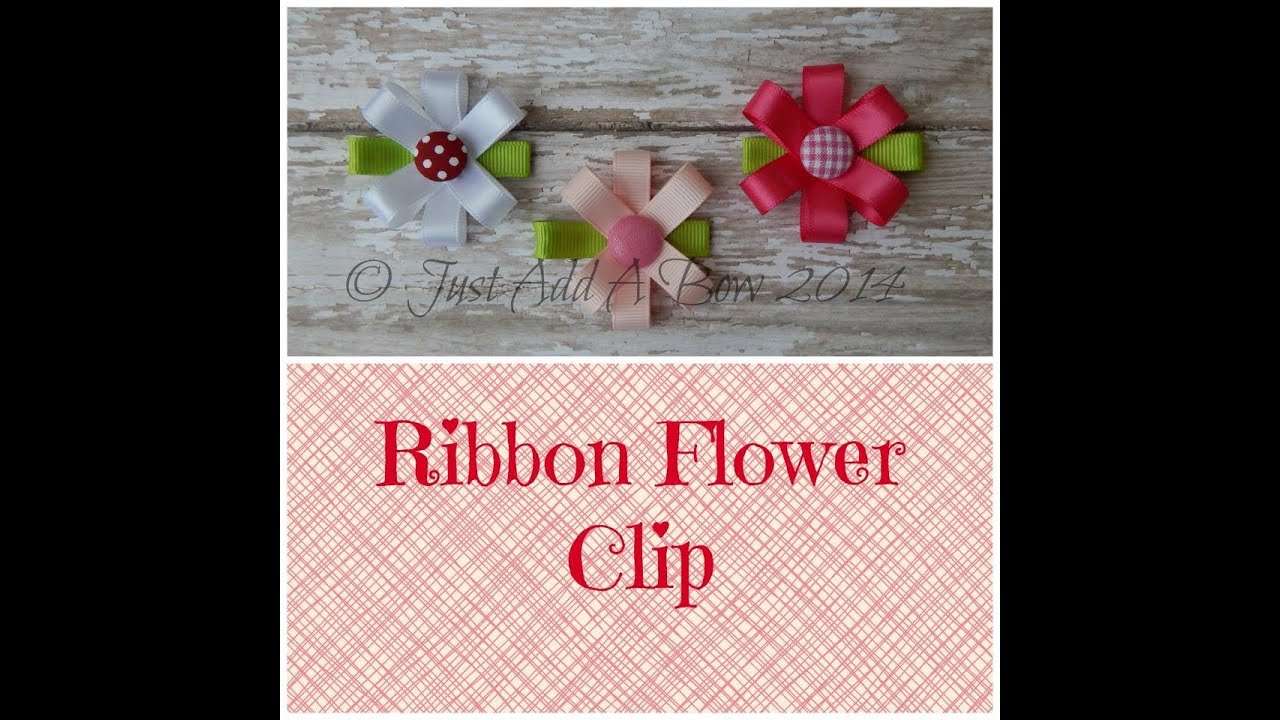 youtube how to make hair bows with ribbon how to make a easy
