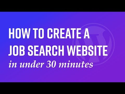How to create a job search website in under 45 minutes.