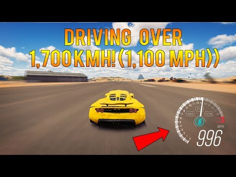 Forza Horizon 3 - TOP SPEED WORLD RECORD! DRIVING OVER 1,700KMH!