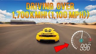 Video Forza Horizon 3 - TOP SPEED WORLD RECORD! DRIVING OVER 1,700KMH! download MP3, 3GP, MP4, WEBM, AVI, FLV Desember 2017