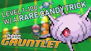 380 - Raising a Pokemon to Level 100 with Sports and a Rare Candy Trick!!! Level 100 Gauntlet