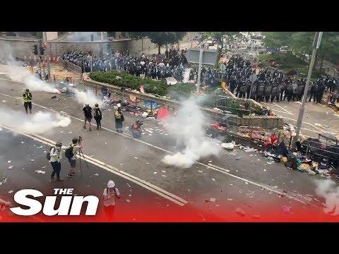 Hong Kong Extradition Bill protests turn violent