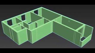 Как создать квартиру в 3d max - ч1 - внешние стены