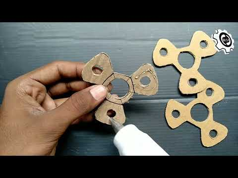 How to Make an Easy Fidget Spinner Toy   How to Make Fidget Spinner with Cardboard At Home