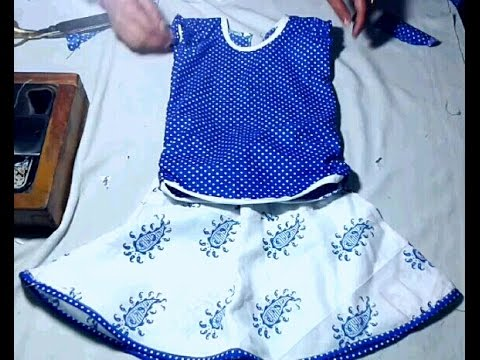 Kids top cutting and stitching in hindi
