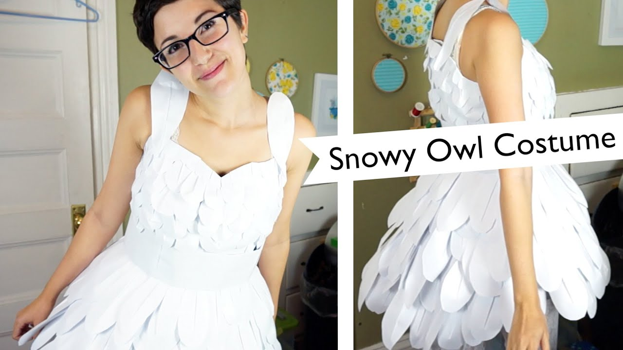 Snowy Owl DIY Minimalist Halloween Costume Challenge | @laurenfairwx - YouTube  sc 1 st  YouTube & Snowy Owl: DIY Minimalist Halloween Costume Challenge ...