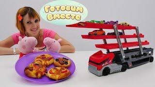 Пеппа готовит пиццу. Игры для детей.
