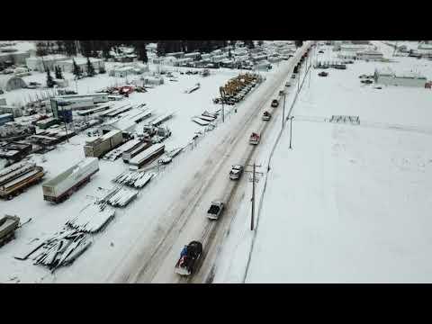 Whitecourt Alberta Pro Pipeline Convoy