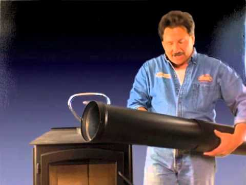 Durablack single wall stove pipe kit 1674 telescoping length & Durablack single wall stove pipe kit 1674 telescoping length - YouTube