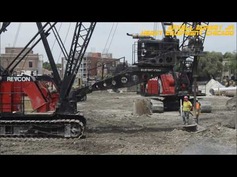 2x Revcon Link-Belt Cranes Foundation Drilling
