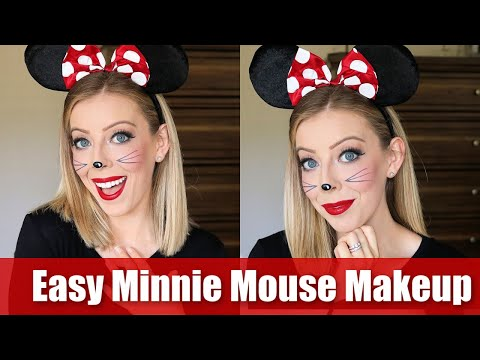 Easy Minnie Mouse Makeup Halloween Tutorial