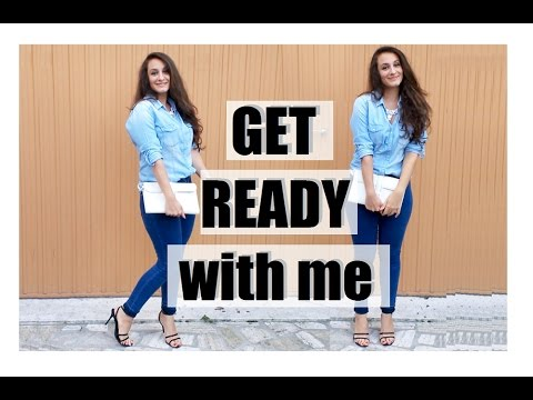 GET READY WITH ME | quick and easy makeup, simple hair and outfit