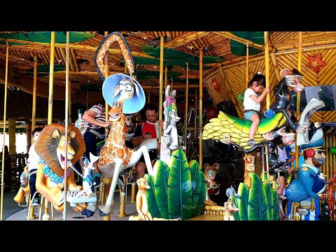 King Julien Beach Party Go Round Universal Studios Madagascar Land, Resorts World Sentosa 2019 Ride