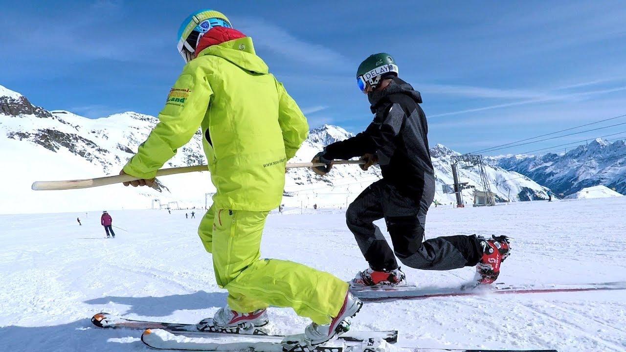 Zum 1.  Mal auf Telemark Skiern