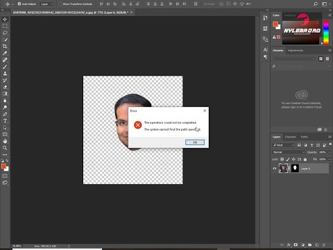 """The System Cannot find the File Specified"""" error in your Photoshop"""