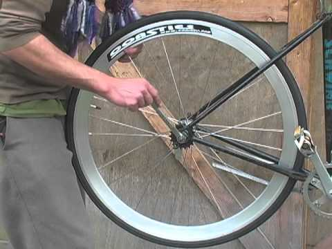 How To Build A Single Speed Bike 11 Put The Wheels On Youtube