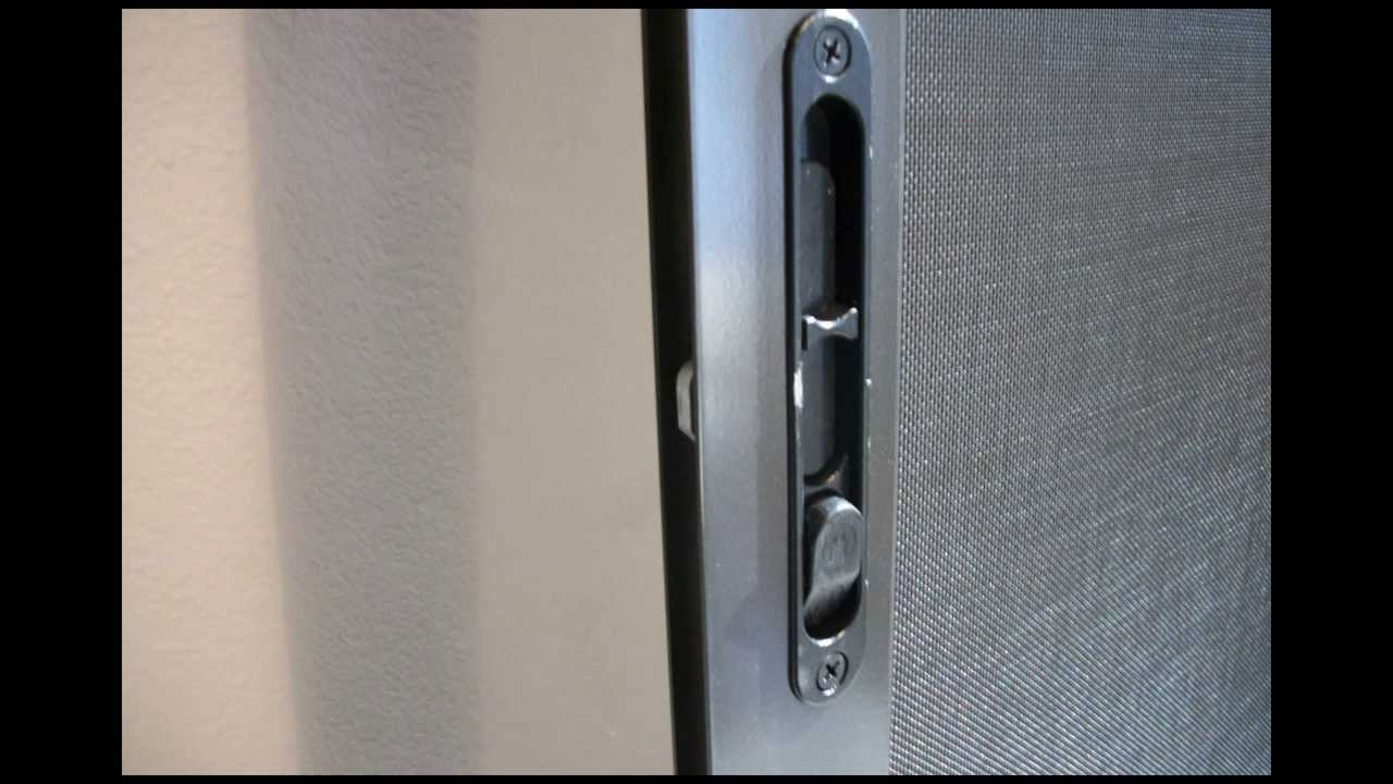 classic sliding screen door assembled
