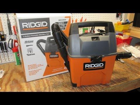RIDGID 3 Gallon Portable Wet// Dry Vac WD3050