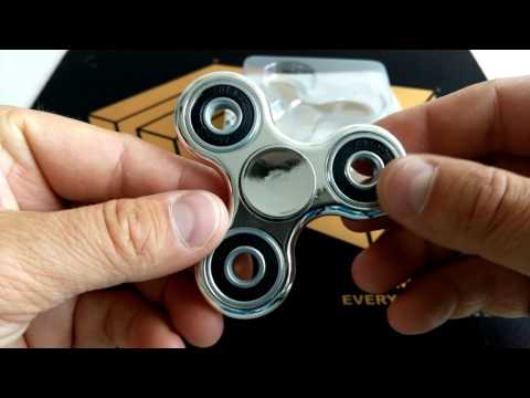 Gearbest - Electroplated Coating Tri-wing Fidget Spinner - silver