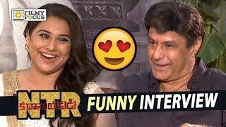 Balakrishna and Vidya Balan Funny Interview about NTR Biopic Movie    NTR Kathanayakudu Movie