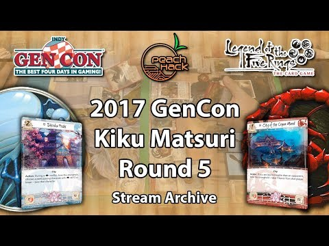 L5R - Crane vs. Scorpion - 2017 GenCon Kiku Matsuri Stream Archive - Round 5