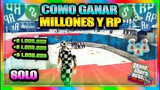 *SIN REQUISITOS* COMO GANAR MILLONES Y RP SUPER FACIL SOLO !   [TRUCO DE DINERO GTAV Online 1.50]
