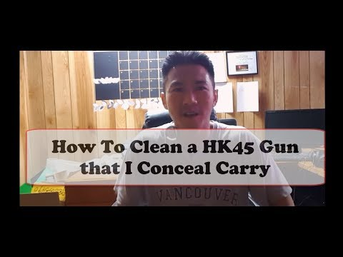 How to Clean Oil Take Apart Conceal Carry HK45 Full Size Gun Pistol