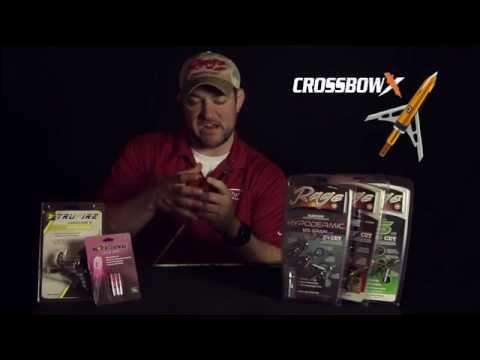 Rage Crossbow X Broadheads