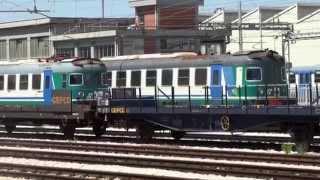 (treni - fs) stazione di ancona   etr401p etr242 ale601 FULL HD