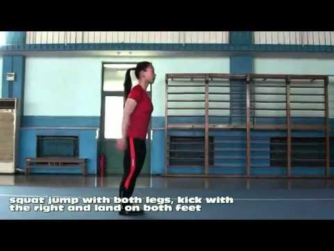 salto con patada frontal entrenamiento  wushu