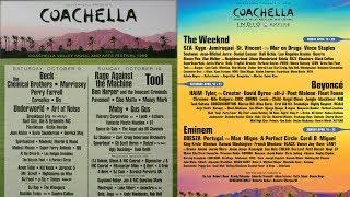 Coachella 1999 Vs Coachella 2018 (You won't believe how much Coachella has changed)