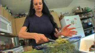 Sofia Staks Green Gal Veggie Wrap Preparation