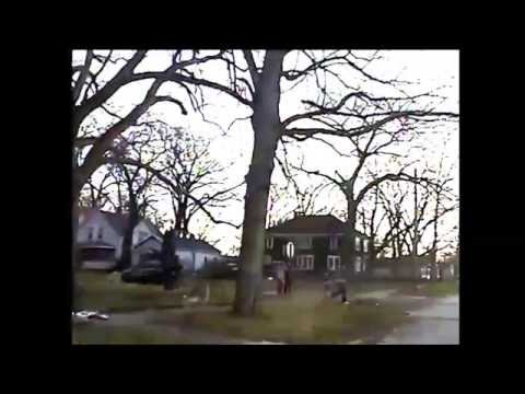 City of Muskegon Police Officers Playing Football with Kids - Dashcam