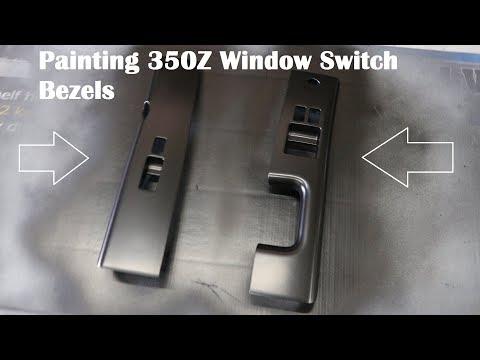 350Z Painting Window Switch Bezels Trim Z33 Window Switch Trim Painting