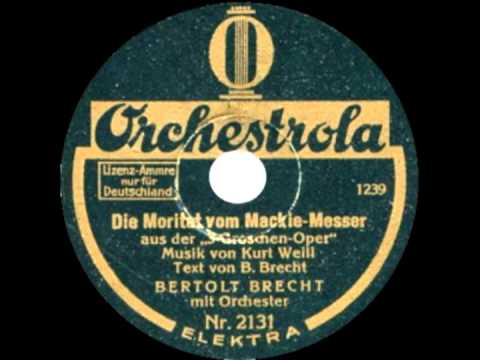 Moritat von Mackie Messer - Lotte Lenya