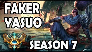 SKT T1 Faker plays YASUO vs KARMA - Ranked Challenger Korea