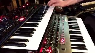 Prophet 6 vs OB6 basic sound comparison.