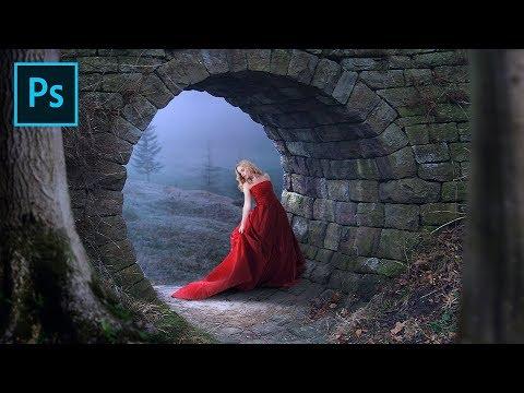 Photoshop Manipulation Tutorial | Fantasy Photo Effects | Red Dress