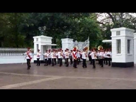 Changing of Guards Ceremony February 2016 - Istana & March out