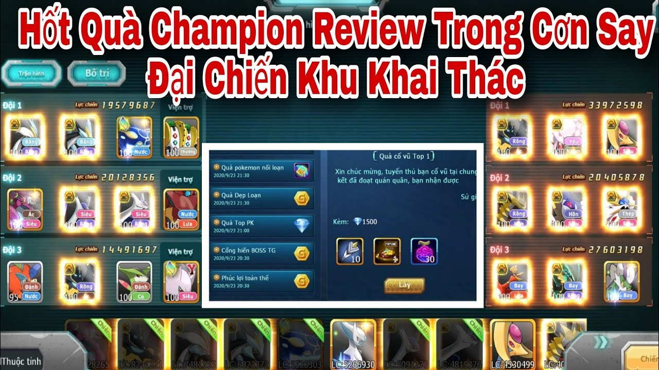 Hốt Quà Champion Review Trong Con Say Đại Chiến Khu Khai Thác   ttđp