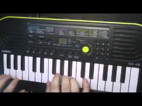 I play a little Casio SA-46 keyboard