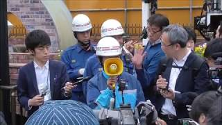 11日の夕方にJR新橋駅前で女子高生7人が体調不良を訴えた事件の消防隊...