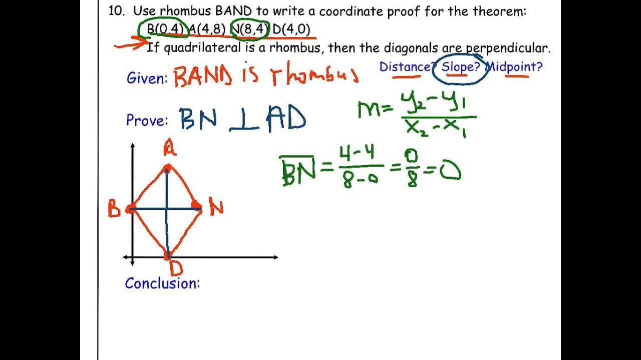 Rhombus coordinate proof youtube rhombus coordinate proof ccuart Gallery