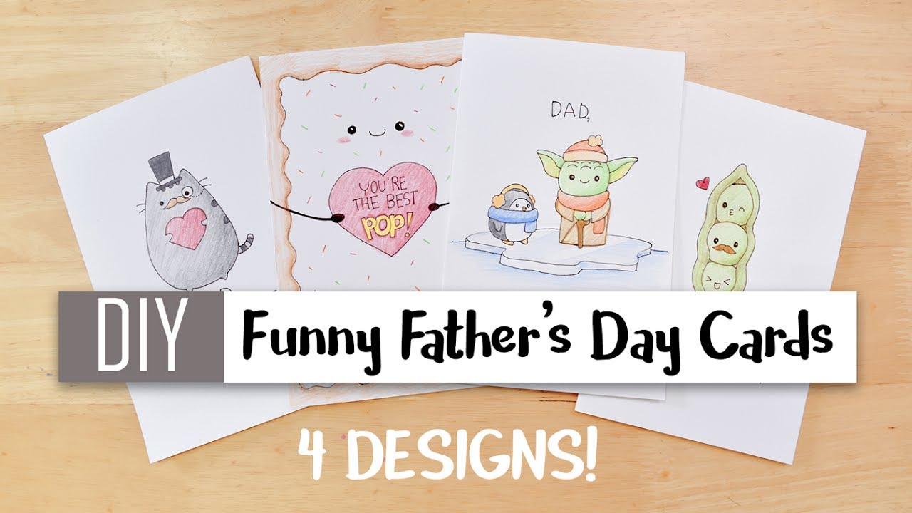 Diy Funny Fathers Day Cards Easy 4 Cute Puns Card Ideas For Dad