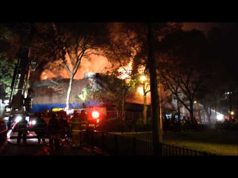 FDNY RESPONSE TO MAJOR 3 ALARM INFERNO FIRE AT W. 133RD ST. & AMSTERDAM AVE. IN MANHATTANVILLE, NYC.